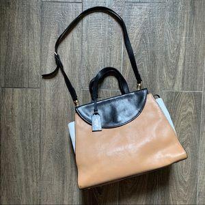 Kate Sapde Brown Top Handle Bag w Should Strap